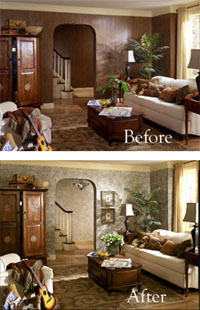 PaperIllusion� Before After Paneling Room Shot