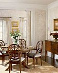 Dining Room decorated with Paper Illusion Hearthstone Creme and Bone 5807066